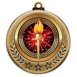 Victory Torch Award Sports Medal
