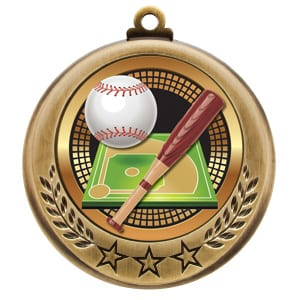 Stock baseball medals