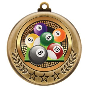 pool tournament medals