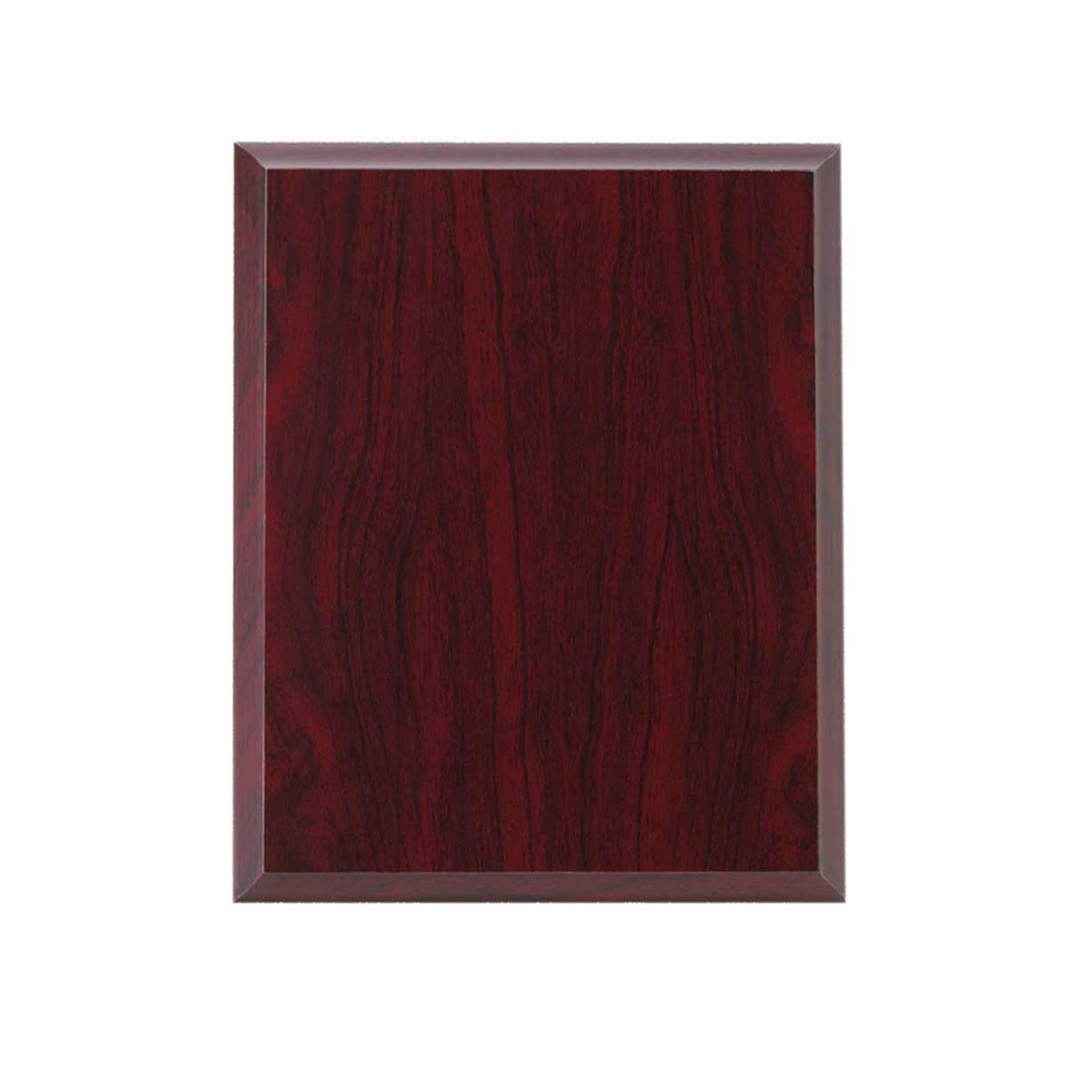 red wood plaque