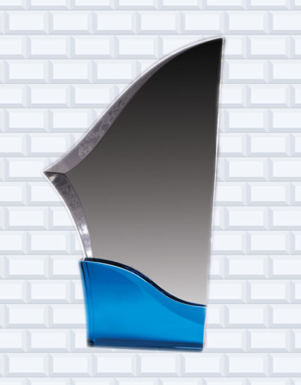 Clear Acrylic Sabre with a blue base