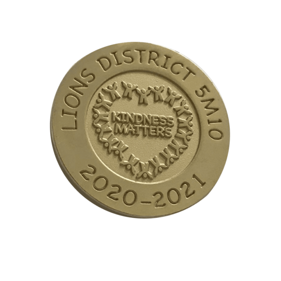 Custom challenge coins lions international