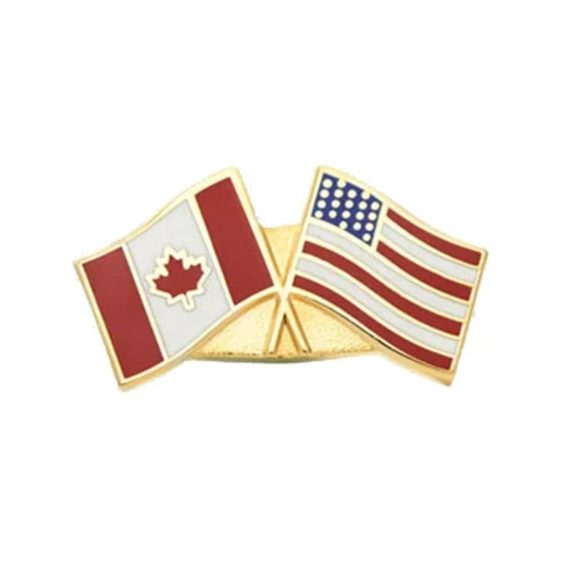 Canada USA Flag, Friendship flag pin