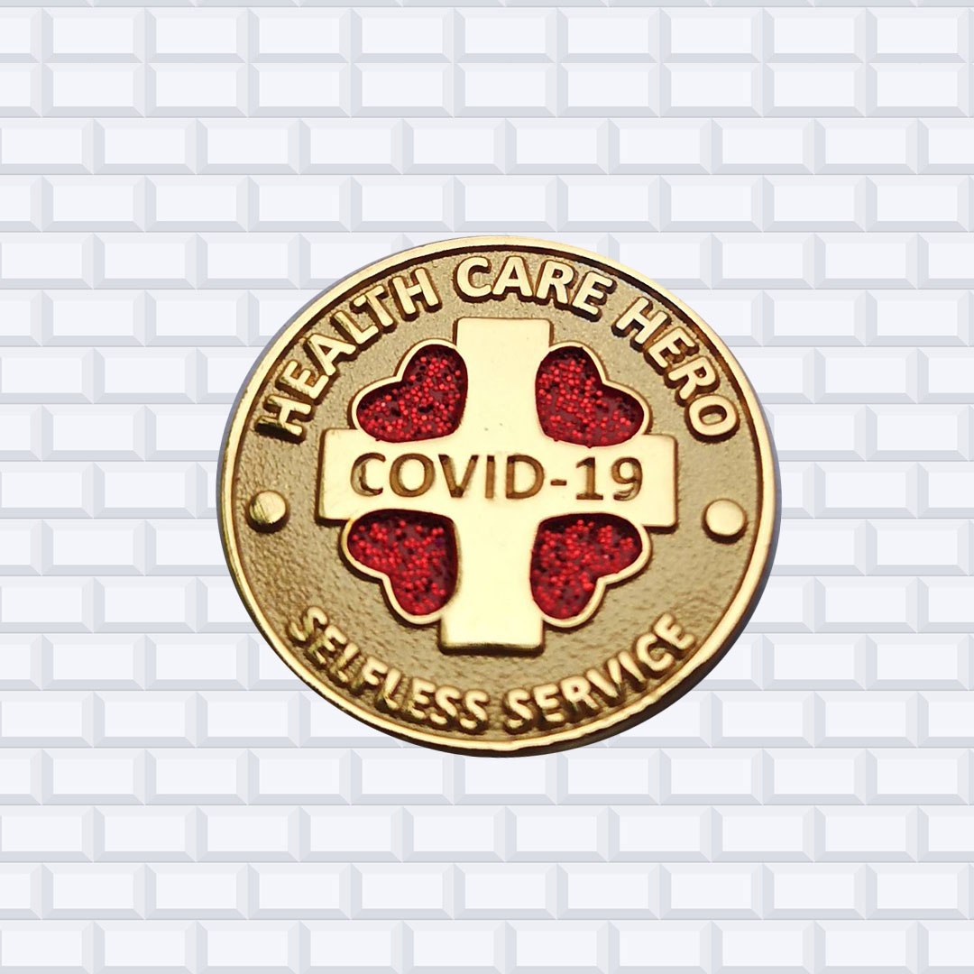 COVID-19 Hero Award Pins 1.00″ Soft Enamel