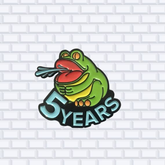 5 year employee pin