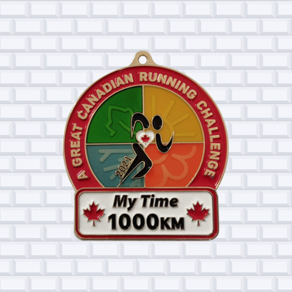 running race medals 1000km