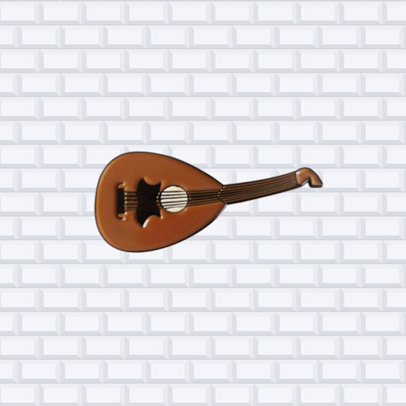 oud middle eastern music pin