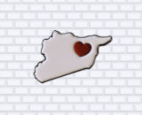 love syria enamel pin