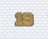 jersey number trading pin