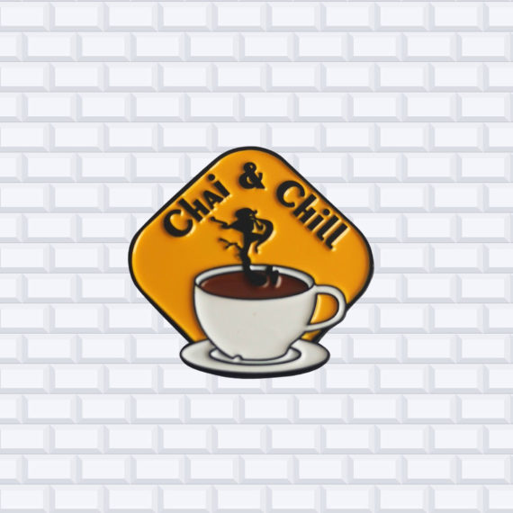 coffee shop enamel pins