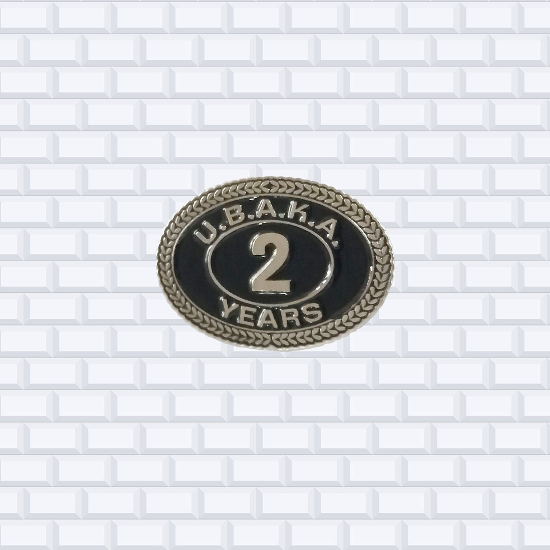 die cast years service lapel pin