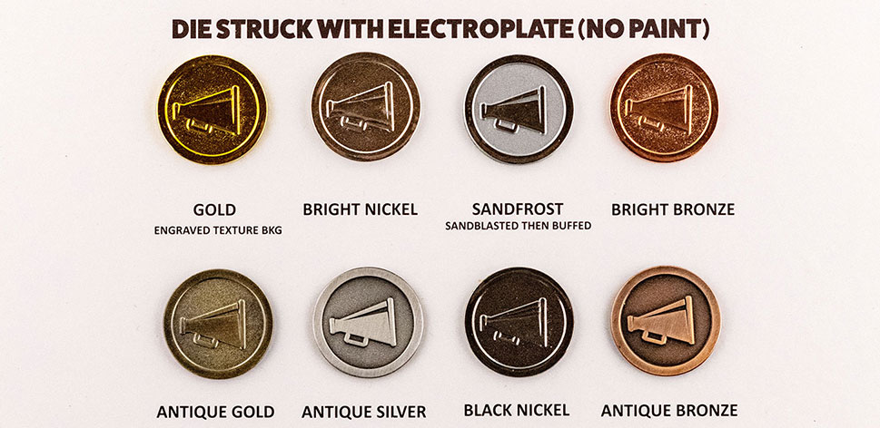 plating choices for coins