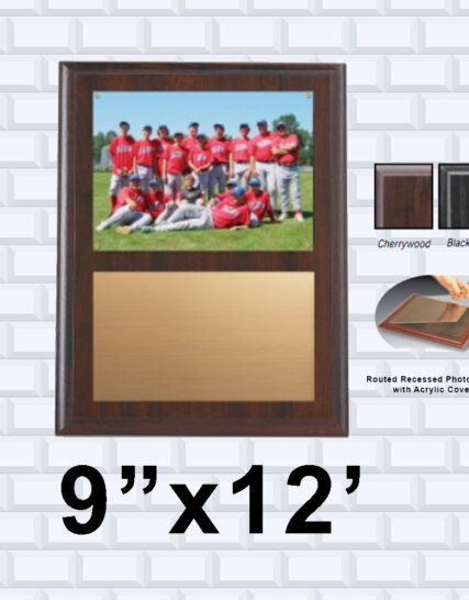 Cherry Wood Plaque w/ Photo insert