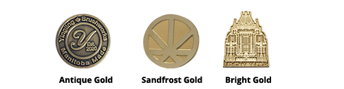 gold plated lapel pins