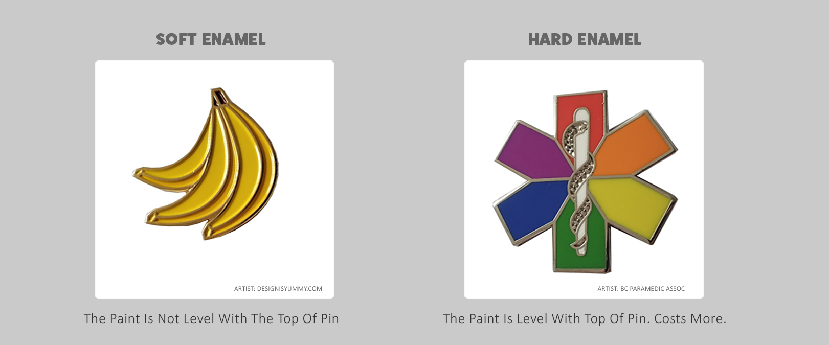 difference between hard soft enamel