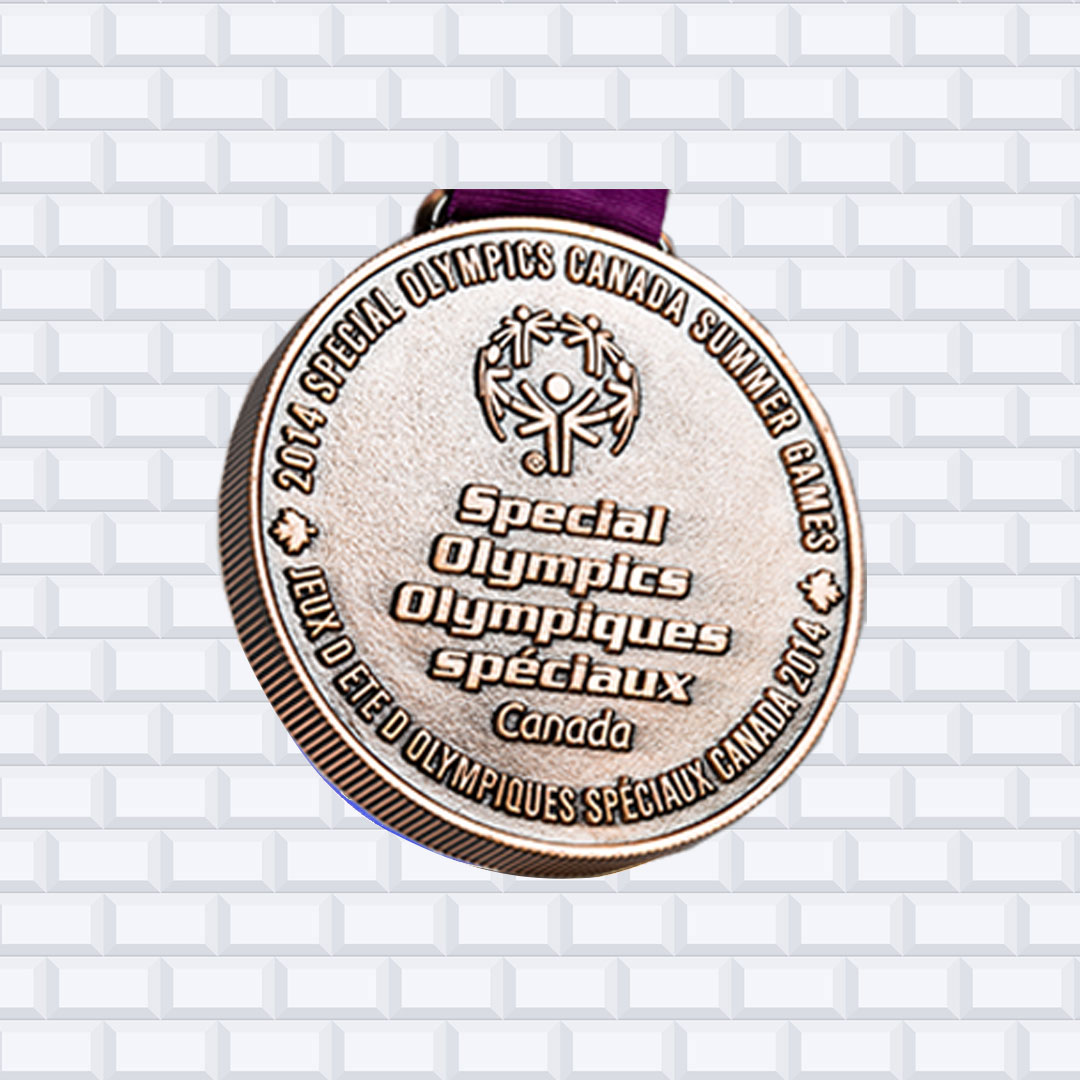 custom die cast 5mm thick special olympics medal